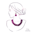 Woman And Jewelry vector image