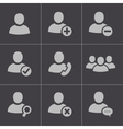 black people icons set vector image