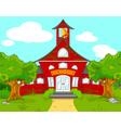School landscape vector image