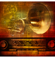 abstract grunge sound background with trumpet and vector image vector image