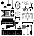 Antique and modern furniture vector image