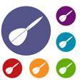 arrow to play dart icons set vector image vector image