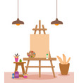 art studio interior colorful vector image vector image