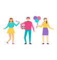 birthday party and people vector image vector image