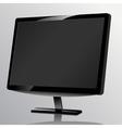 Blank computer monitor at the desk vector image