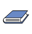 book isolated icon vector image vector image