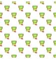 Children bucket with shovel pattern cartoon style vector image vector image