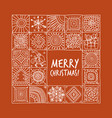 christmas card with geometric ornament for your vector image