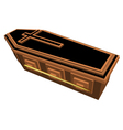 coffin vector image vector image