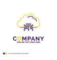 company name logo design for cloud computing data vector image vector image