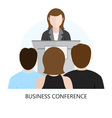 Conference Flat Design Icon vector image vector image