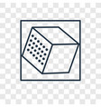 cube concept linear icon isolated on transparent vector image