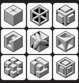 cube icon set 1 vector image vector image