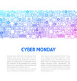 cyber monday line design template vector image
