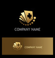 document hospital gold logo vector image vector image