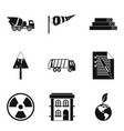 eco building icons set simple style vector image vector image