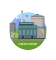 Ecology Factory Eco Plant Icon in Flat Style vector image vector image