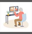 elderly old people senior people at home vector image