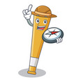explorer baseball bat character cartoon vector image vector image