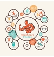 fitness and body care infographics icons vector image vector image