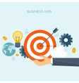Flat business concept vector image vector image