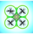 flying quadcopter drone vector image vector image