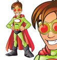 Green Superhero Cartoon vector image
