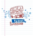 Greeting card from London vector image vector image