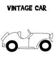 Hand draw of vintage car vector image