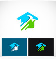 home renovation construction logo vector image