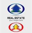 House logo for real estate companies vector image vector image