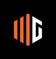 initial letter wg or mg logo emblem vector image vector image