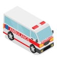 Isometric ambulance car vector image