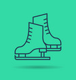 linear icon of pair of skates vector image vector image