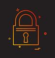 lock icon design vector image vector image