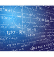 mathematics background with formulas vector image vector image