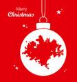 merry christmas theme with map of wichita kansas vector image vector image
