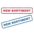 New Sortiment Rubber Stamps vector image vector image