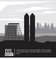 oil and petroleum industry vector image vector image
