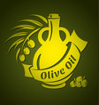 olive oil design templates for your design vector image vector image