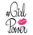 phrase expression for girl power vector image vector image
