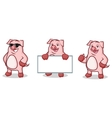 Pink Pig Mascot happy vector image vector image