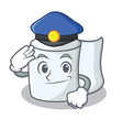 police tissue character cartoon style vector image vector image