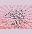pop art happy valentines day typographic lettering vector image vector image