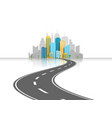 road to city light concept vector image vector image