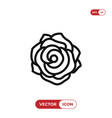 rose icon vector image vector image