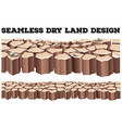 Seamless dry land design vector image vector image