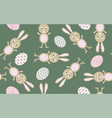 seamless pattern easter bunny vector image