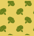 seamless pattern with broccoli vector image vector image