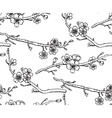seamless pattern with hand drawn branches a vector image
